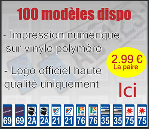 Nos stickers immatriculation