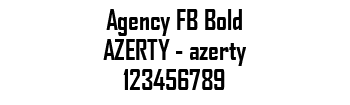 Lettrage Agency FB Bold