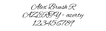 Lettrage Alex Brush R