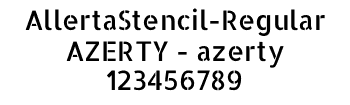 Lettrage AllertaStencil-Regular