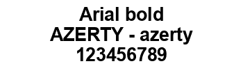 Lettrage Arial bold