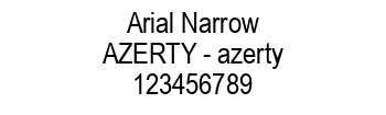 Lettrage Arial Narrow