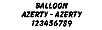 Lettrage Balloon