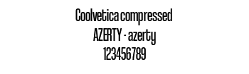 Lettrage Coolvetica compressed