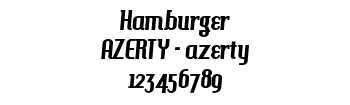 Lettrage Hamburger