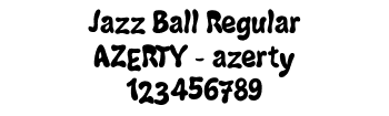 Lettrage Jazz Ball Regular