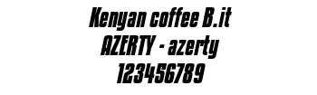 Lettrage Kenyan coffee B.it