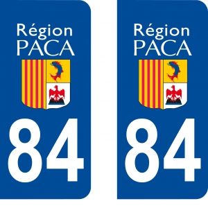 Logo autocollant plaque d'immatriculation 84