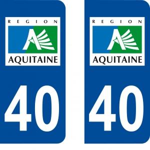Logo autocollant plaque d'immatriculation 40