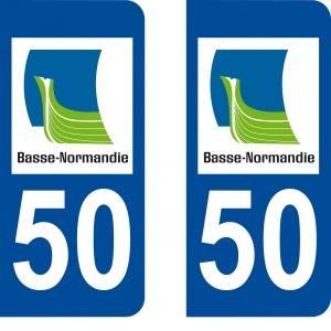 Logo autocollant plaque d'immatriculation 50