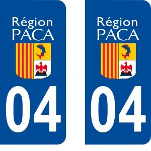 Logo autocollant plaque d'immatriculation 04