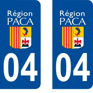 Achat stickers autocollants plaques d'immatriculation Alpes Haute Provence (4) - Logo autocollant 04