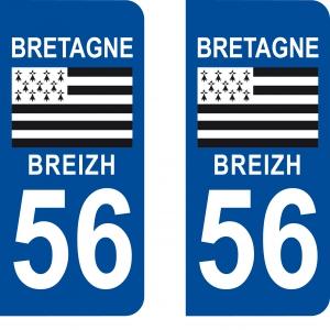 Logo autocollant plaque d'immatriculation 56