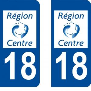 Logo autocollant plaque d'immatriculation 18