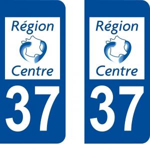 Logo autocollant plaque d'immatriculation 37