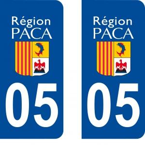 Achat stickers autocollants plaques d'immatriculation Hautes Alpes (5) - Logo autocollant 05