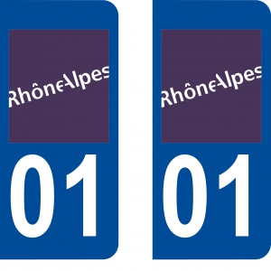 Achat stickers autocollants plaques d'immatriculation Ain (1) - Logo autocollant 01
