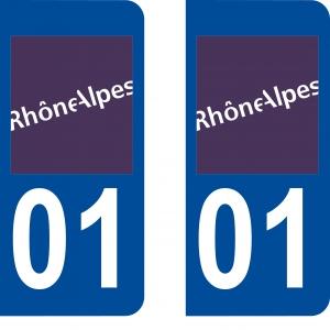 Logo autocollant plaque d'immatriculation 01