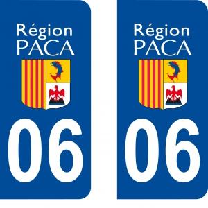 Logo autocollant plaque d'immatriculation 06