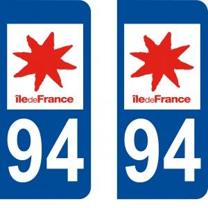 Logo autocollant plaque d'immatriculation 94