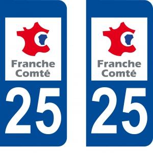 Logo autocollant plaque d'immatriculation 25