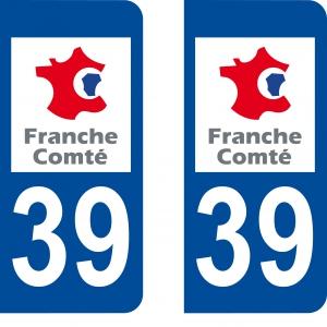 Logo autocollant plaque d'immatriculation 39