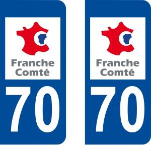 Logo autocollant plaque d'immatriculation 70