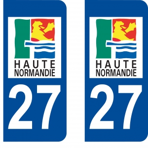 stickers autocollants haute normandie ultra r sistant pour plaques d 39 immatriculation petits. Black Bedroom Furniture Sets. Home Design Ideas