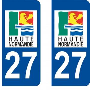 Logo autocollant plaque d'immatriculation 27