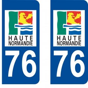 Logo autocollant plaque d'immatriculation 76