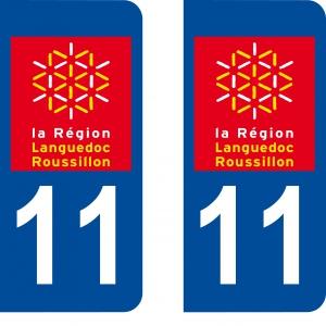 Achat stickers autocollants plaques d'immatriculation Aude (11) - Logo autocollant 11