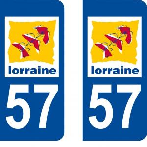 Logo autocollant plaque d'immatriculation 57