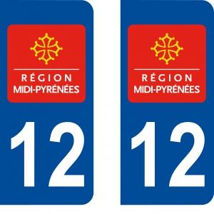 Logo autocollant plaque d'immatriculation 12