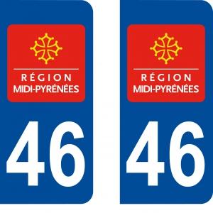 Logo autocollant plaque d'immatriculation 46