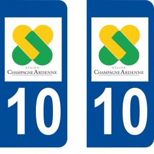 Logo autocollant plaque d'immatriculation 10