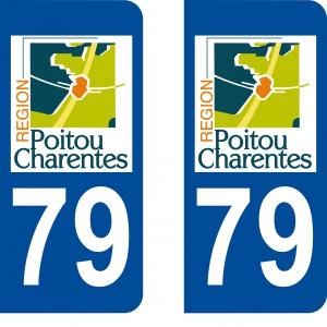 Logo autocollant plaque d'immatriculation 79