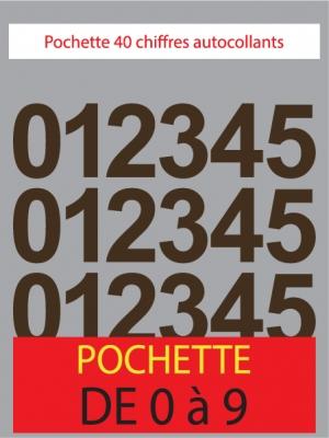 Chiffres autocollants couleur marron - image 0