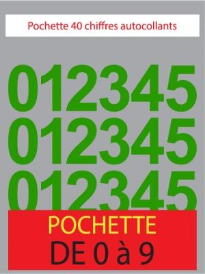 Chiffres autocollants couleur vert clair - image 0
