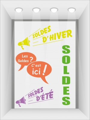 Stickers soldes vitrines - image 0