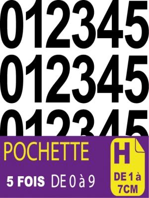 Pochettes de chiffres et lettres adhésives - image 0