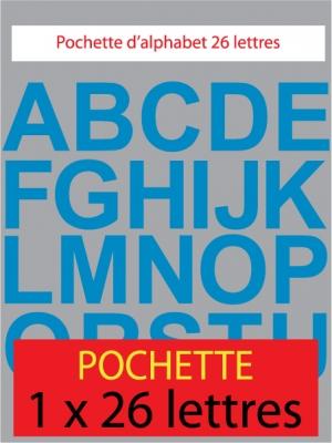 lettres autocollantes couleur bleu clair