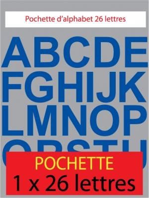 lettres autocollantes couleur bleu