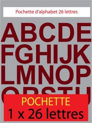 lettres autocollantes couleur bordeaux