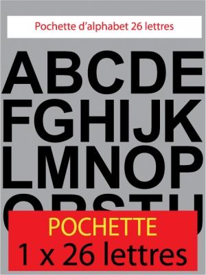 lettres autocollantes couleur noir - image 0