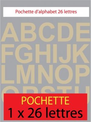 lettres autocollantes couleur beige