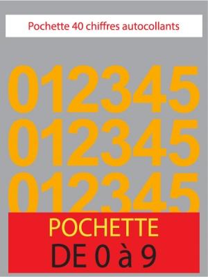 Chiffres autocollants couleur abricot - image 0