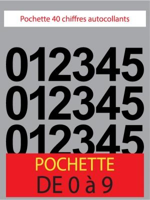 Chiffres autocollants de couleur noir - image 0