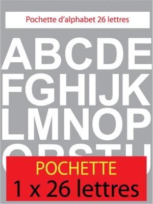 lettres autocollantes couleur blanche