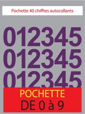 Chiffres autocollants couleur violet