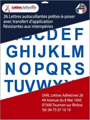 lettres autocollantes couleur bleu - image 0